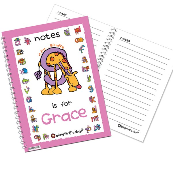 Bang On The Door Animal Alphabet Girls A5 Notebook