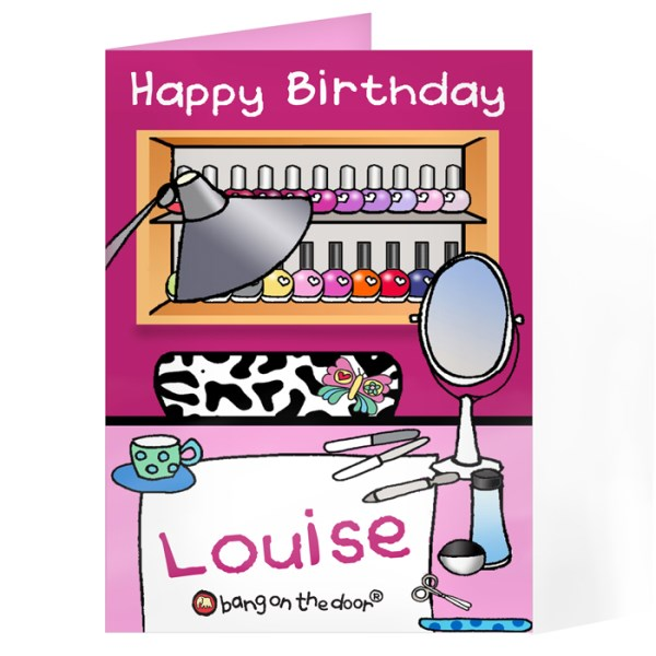 Bang On The Door Beauty Parlour Card