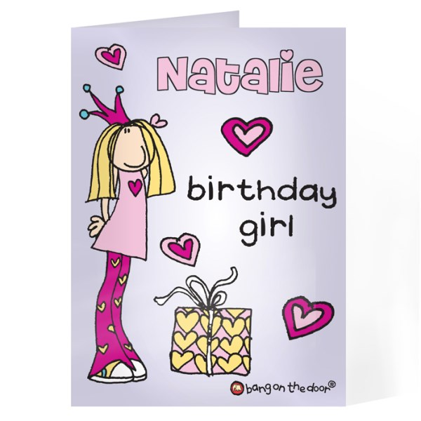 Bang on the Door Birthday Girl Card