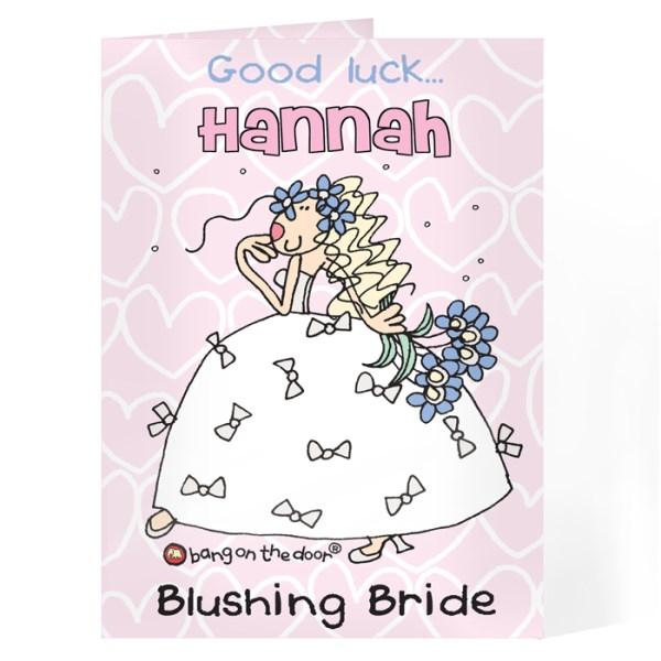 Bang On The Door Bride Card