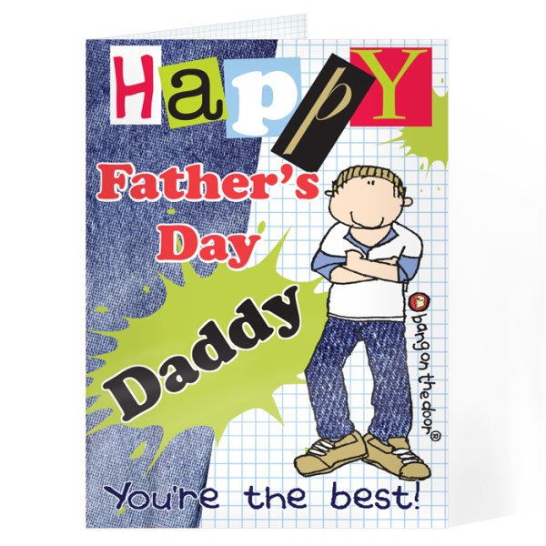 Bang On The Door Happy Father's Day Card