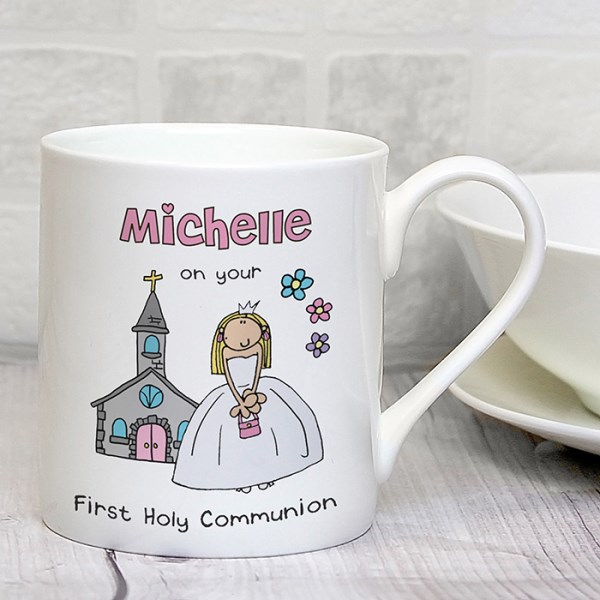 Bang On The Door First Holy Communion Girls Balmoral Mug