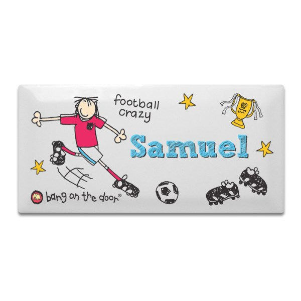 Bang on the Door Football Crazy Door Tile