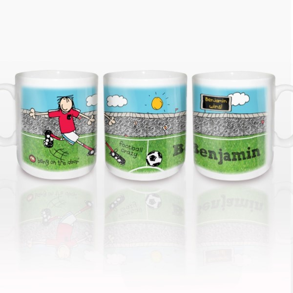 Bang On The Door Football Crazy Mug
