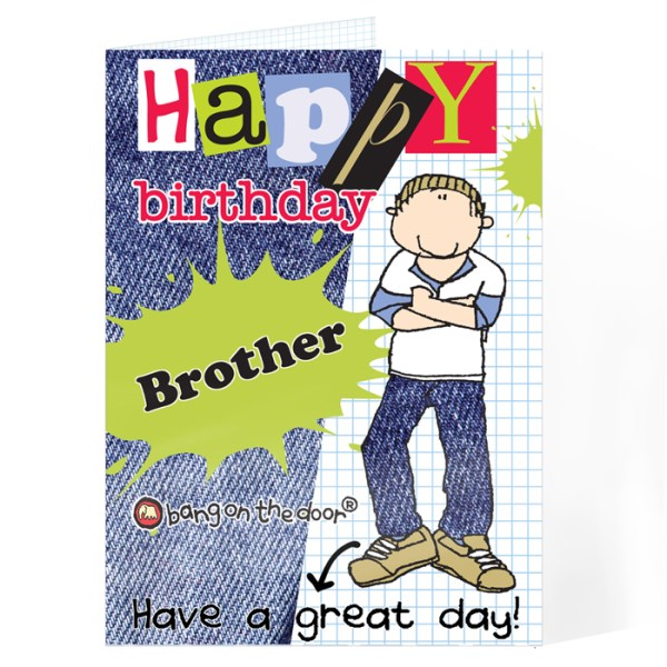 Bang On The Door Happy Birthday Male Card