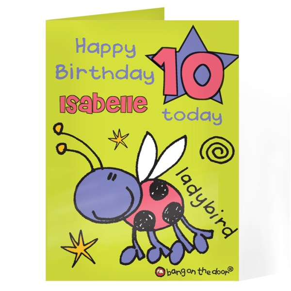 Bang On The Door Ladybird Age Card