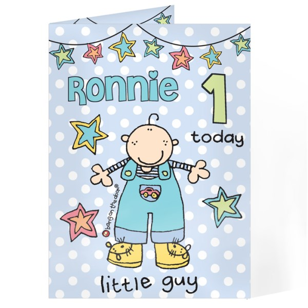 Bang on the Door Little Guy Age Card