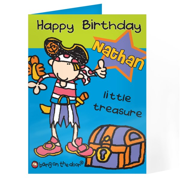 Bang On The Door Little Treasure Card