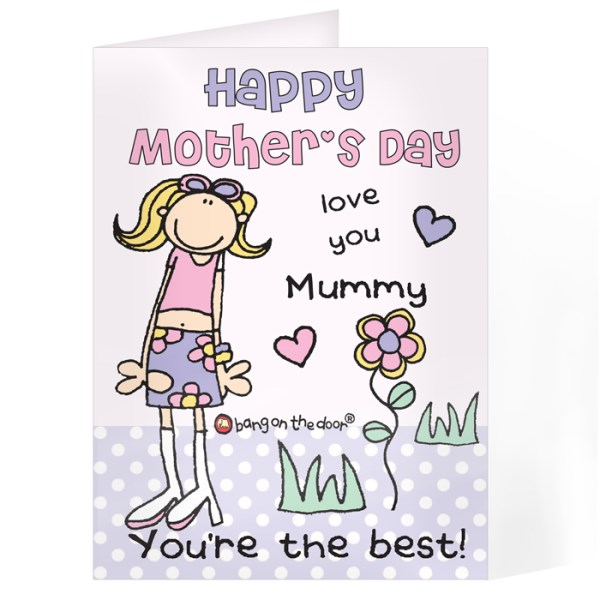 Bang On The Door Mothers Day Card