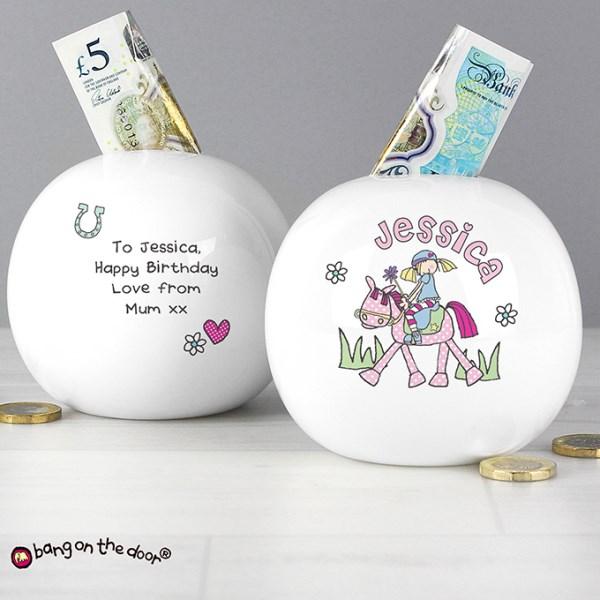 Bang on the Door Pony Girl Money Box