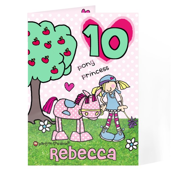 Bang On The Door Pony Princess Age Card