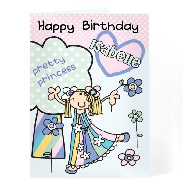 Bang On The Door Pretty Princess Card
