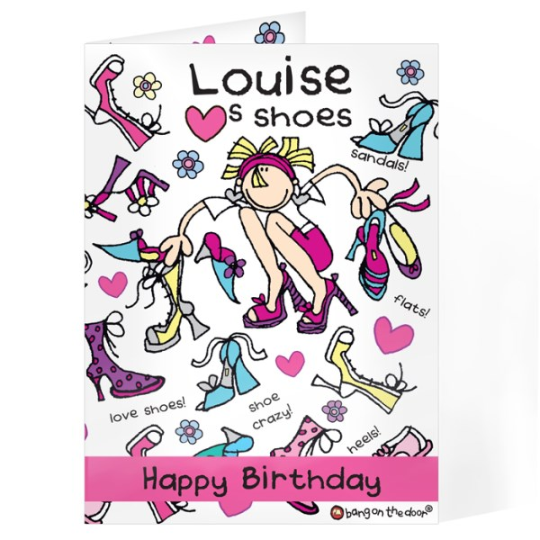 Bang On The Door Shoes Card