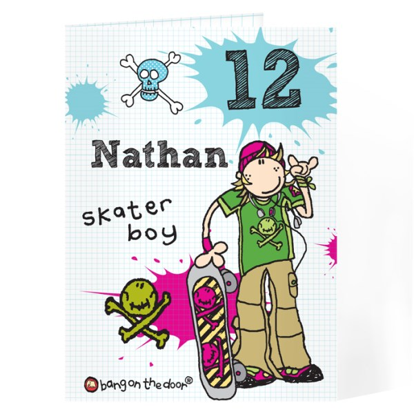 Bang On The Door Skater boy Age Card
