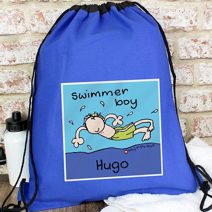 Bang On The Door Swimmer Boy Swim & Kit Bag