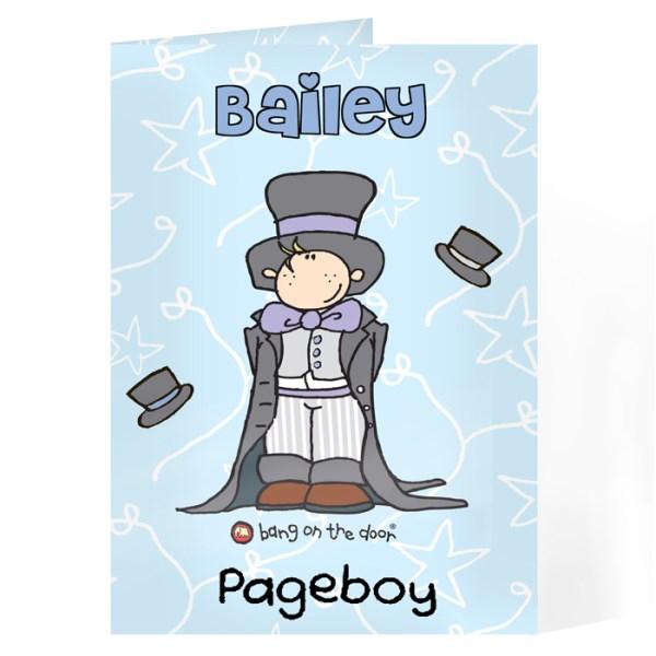Bang On The Door Wedding Boy Card