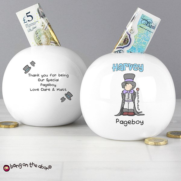 Bang On The Door Wedding Boy Money Box
