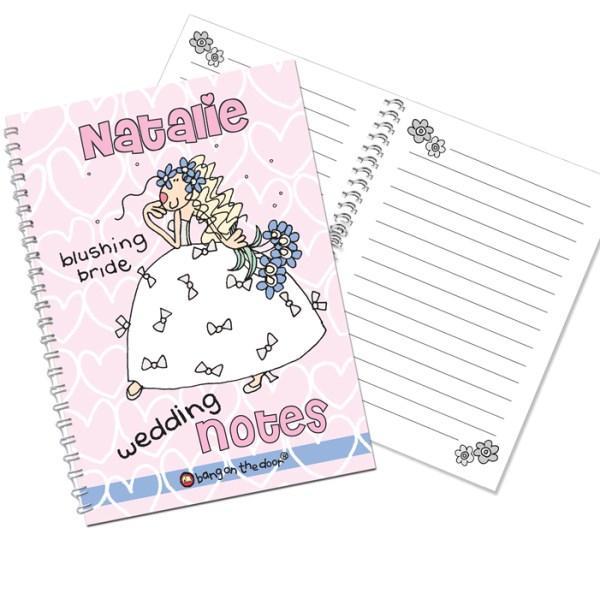Bang on the Door Wedding Bride A5 Notebook
