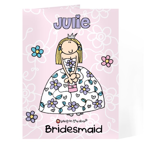 Bang On The Door Wedding Girl Card