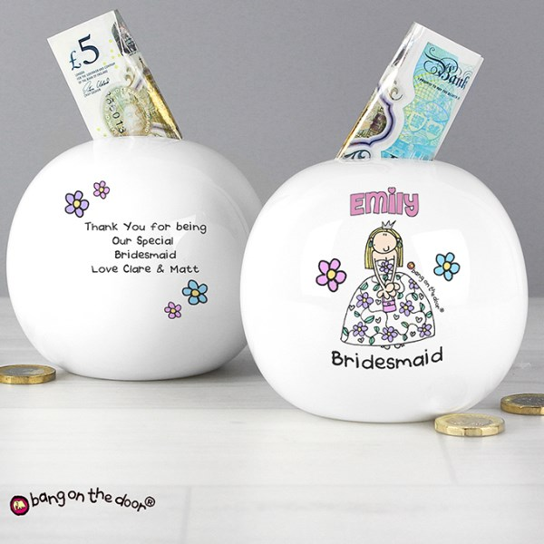 Bang On The Door Wedding Girl Money Box