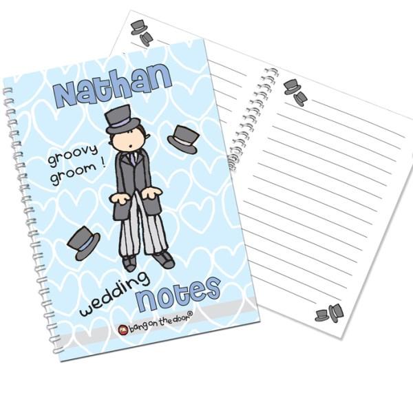 Bang on the Door Wedding Groom A5 Notebook