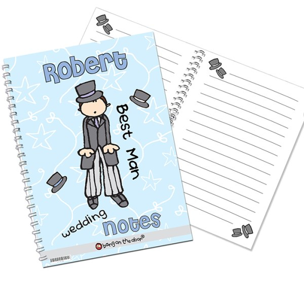 Bang on the Door Wedding Male A5 Notebook