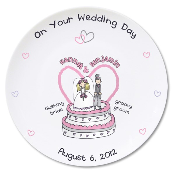 Bang on the Door Wedding Plate
