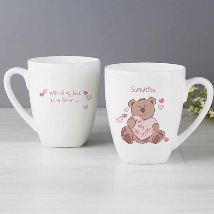 Be My Valentine Bear Latte Mug