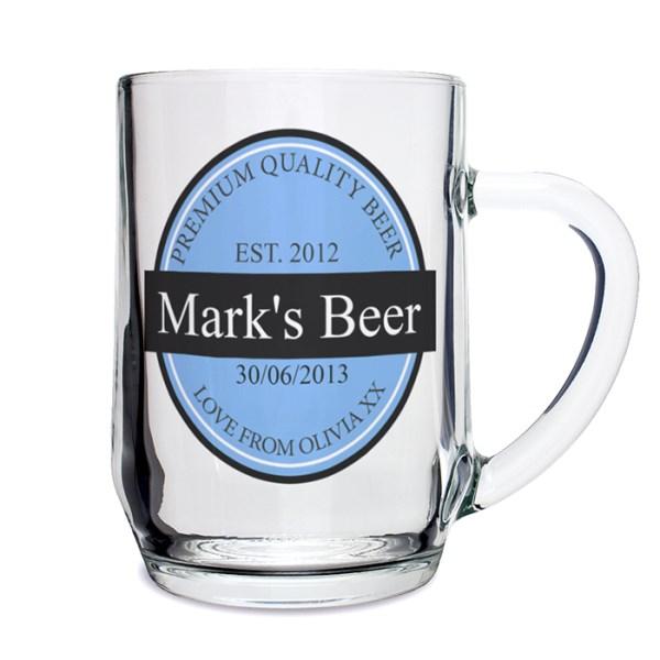 Beer Label Tankard