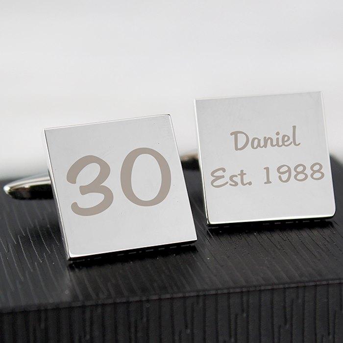 Personalised Birthday Big Age Cufflinks