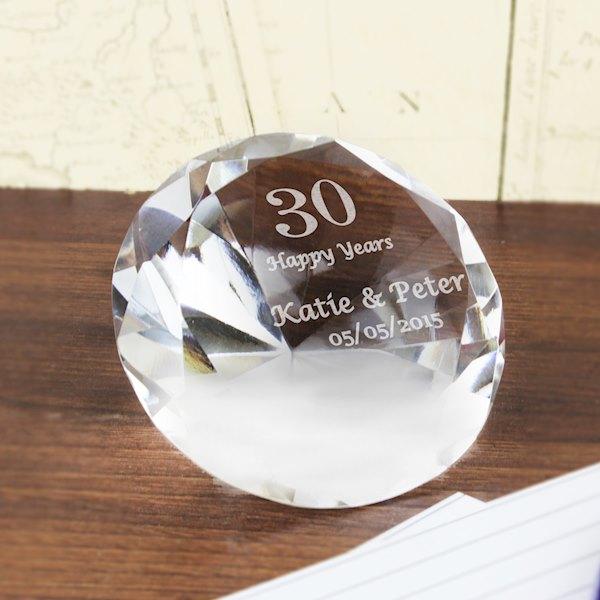 Big Numbers Diamond Paperweight