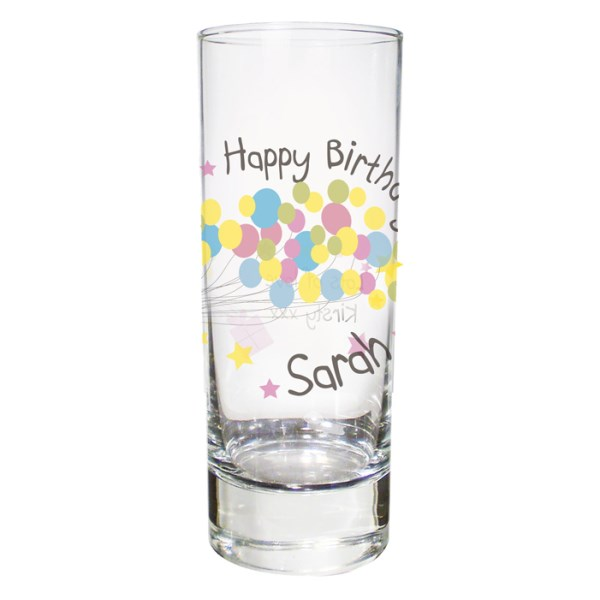 Birthday Balloon Shot Glass