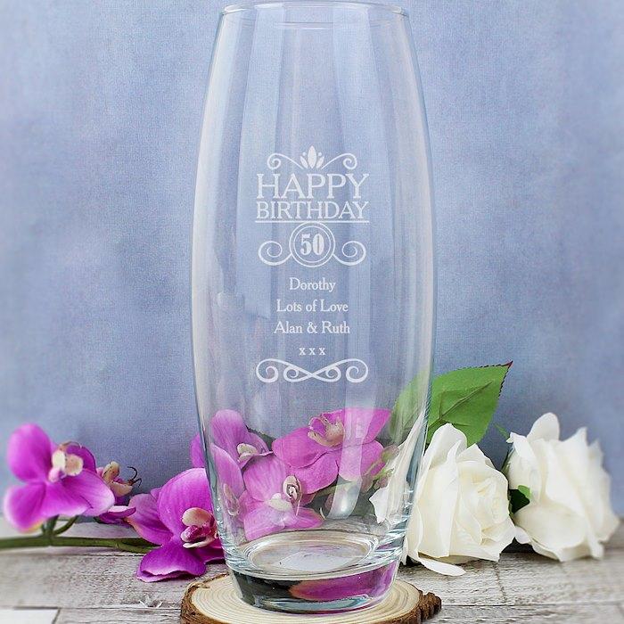 Birthday Bullet Vase