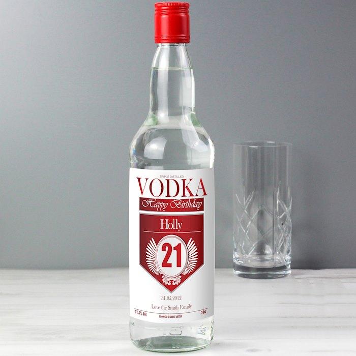 Birthday Red & Silver Vodka