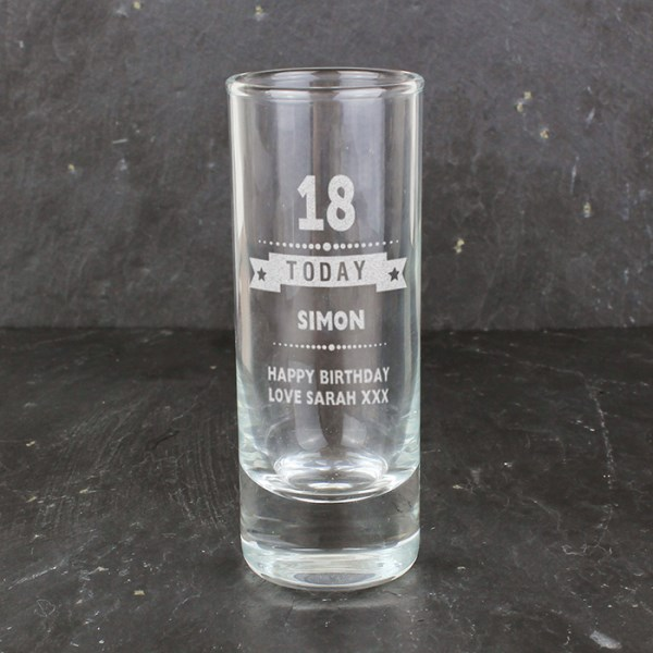 Engraved Birthday Star Shot Glass