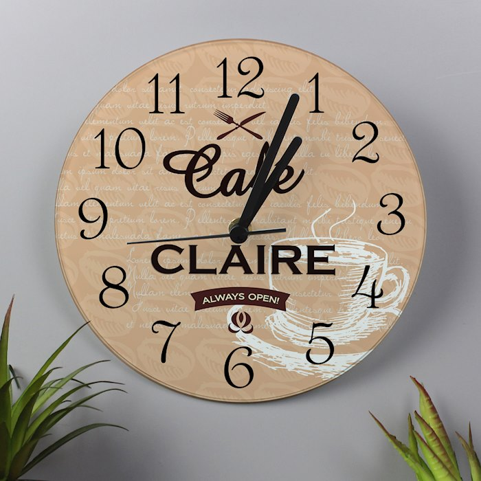 Cafe Glass Clock