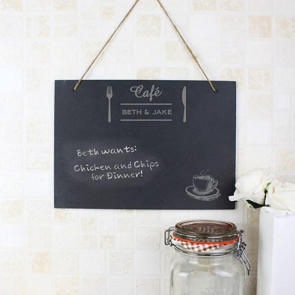 Cafe Hanging Slate Sign