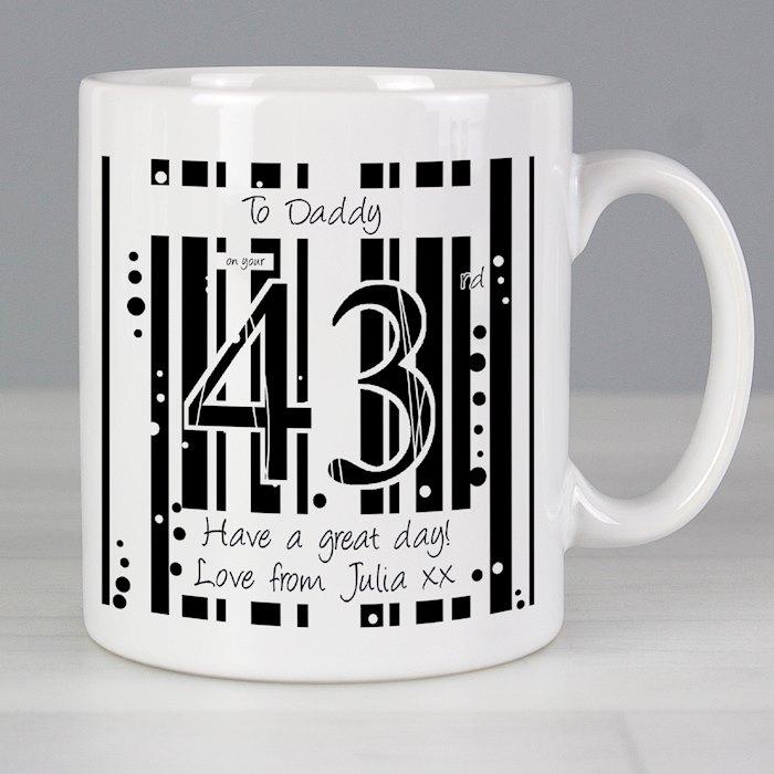 Black & White Happy Birthday Mug