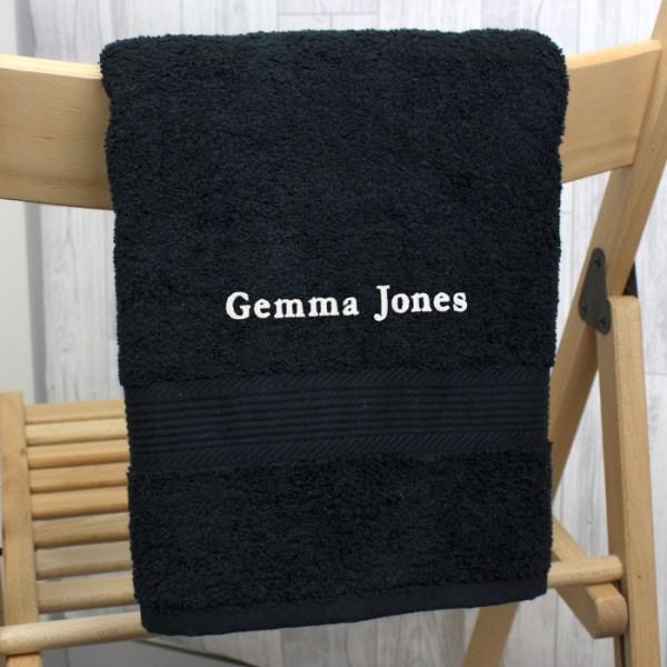 Black Hand Towel