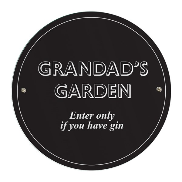 Black House/Garden Sign