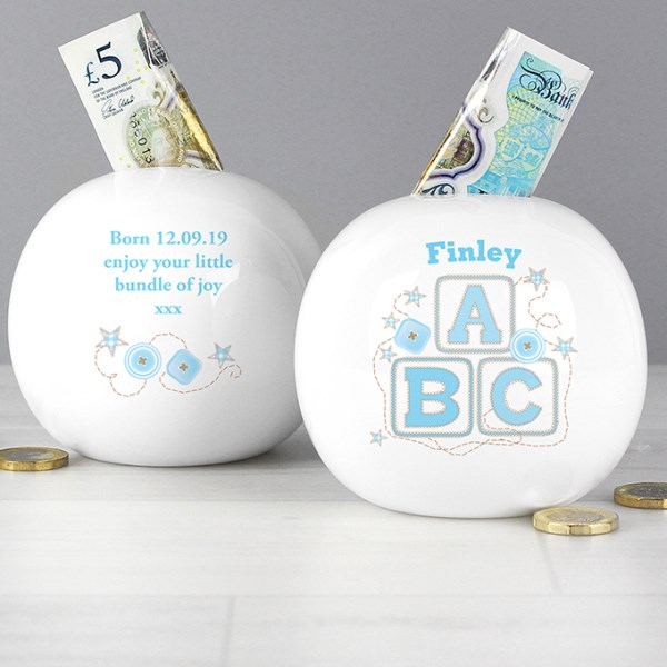 Blue ABC Money Box