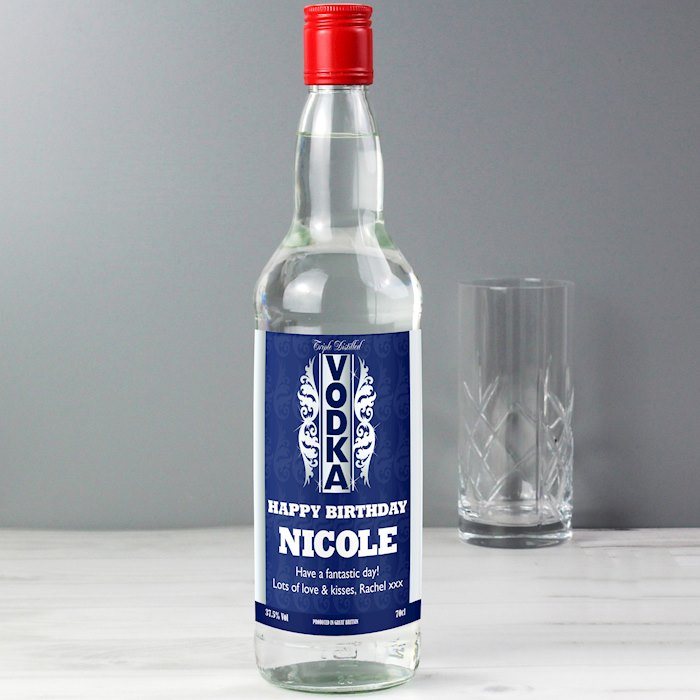 Blue & Silver Stripe Vodka