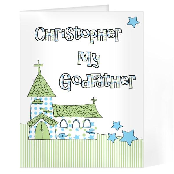 Blue Church Godfather Card