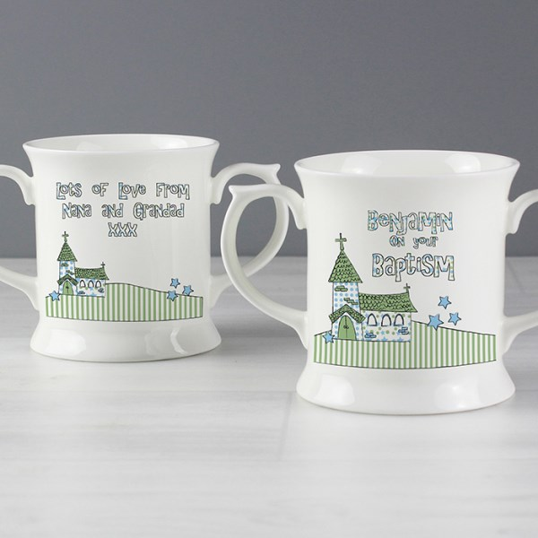 Blue Church Loving Mug