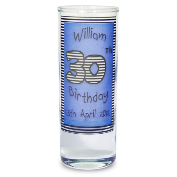 Blue Happy Birthday Shot Glass
