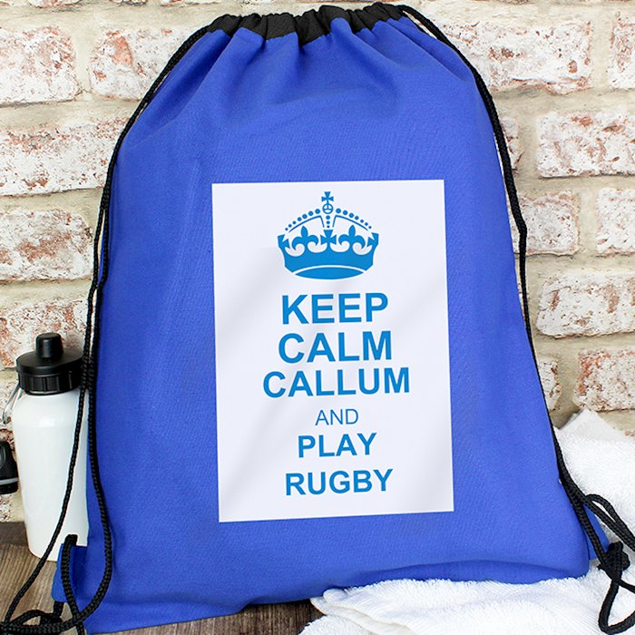 Blue Keep Calm Swim & Kit Bag