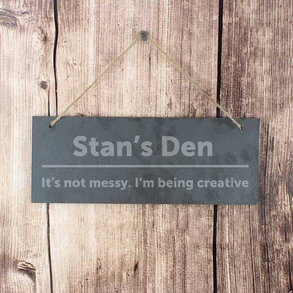 Bold Design Hanging Slate Plaque