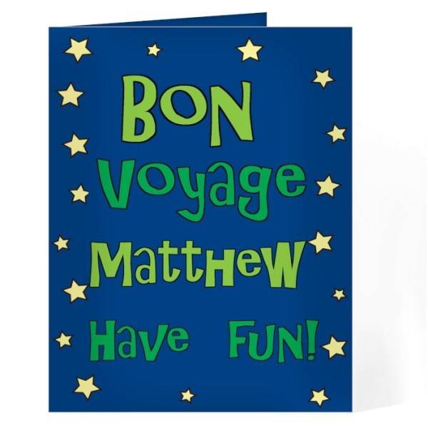 Bon Voyage Blue Star Card