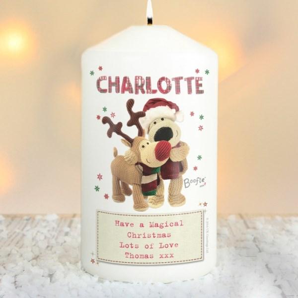 Boofle Christmas Reindeer Candle