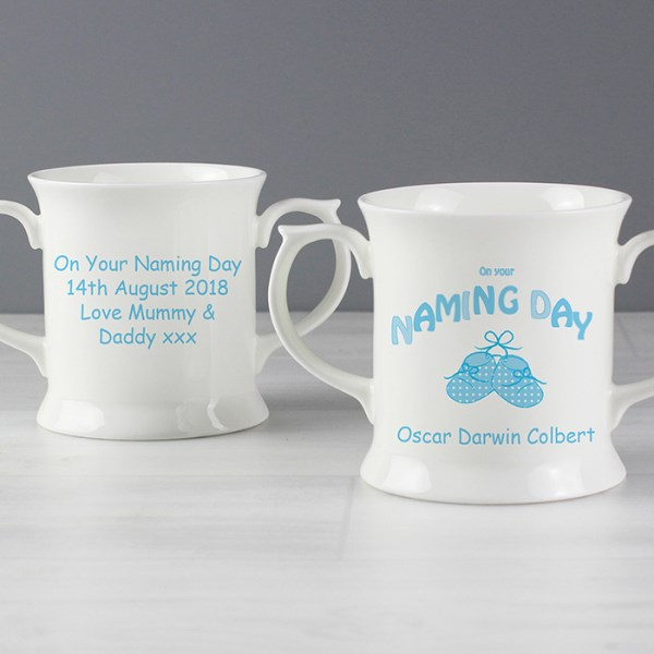 Bootee Blue Naming Day Loving Mug